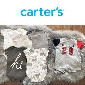 Carter's baby boy infant bodysuits bundle 3 months